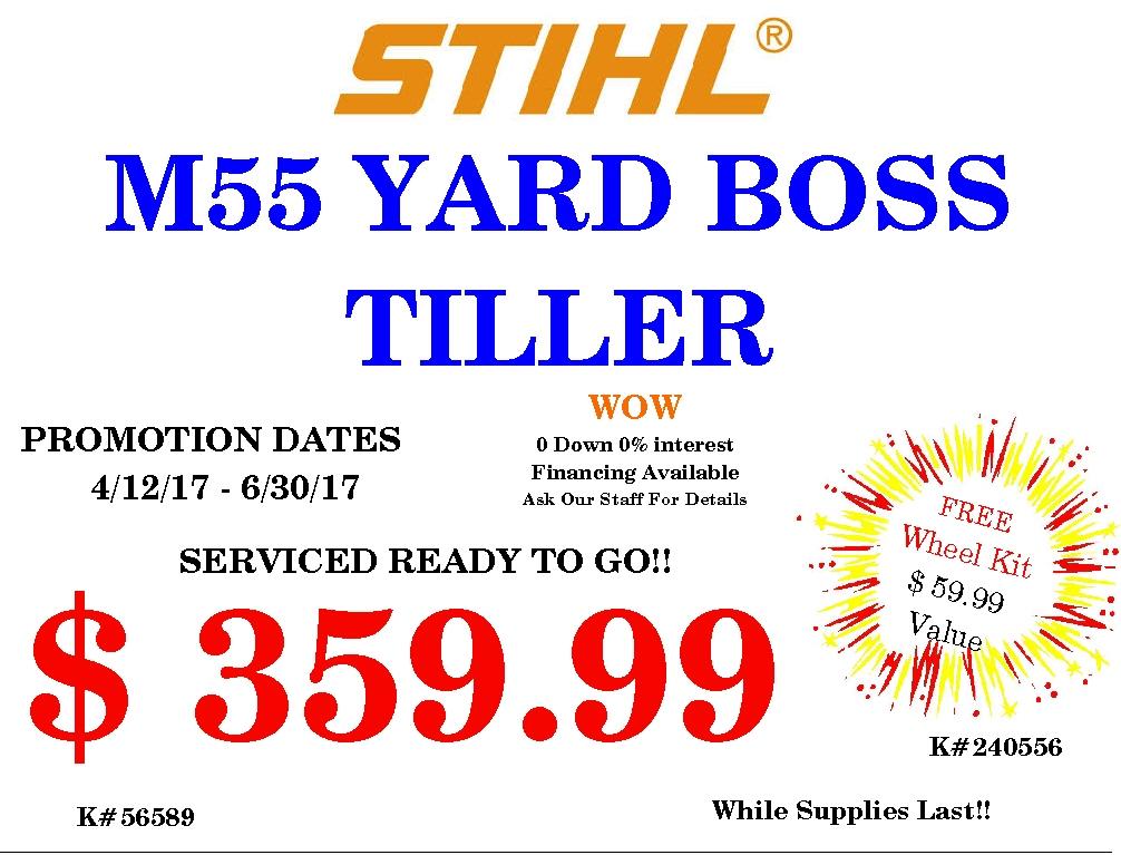Stihl M55 Yard BossTiller