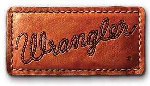 Wrangler logo on leather