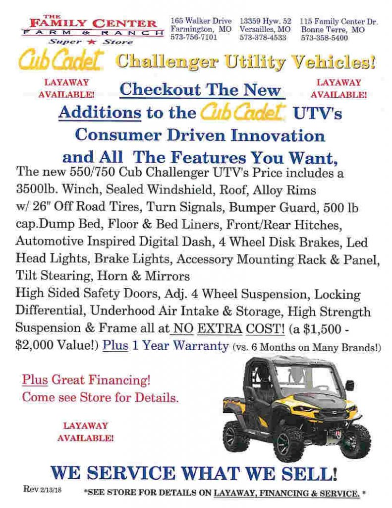 Cub Cadet pg3 May 3 2018