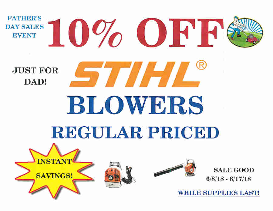 FATHER'S DAY SALE Stihl blowers
