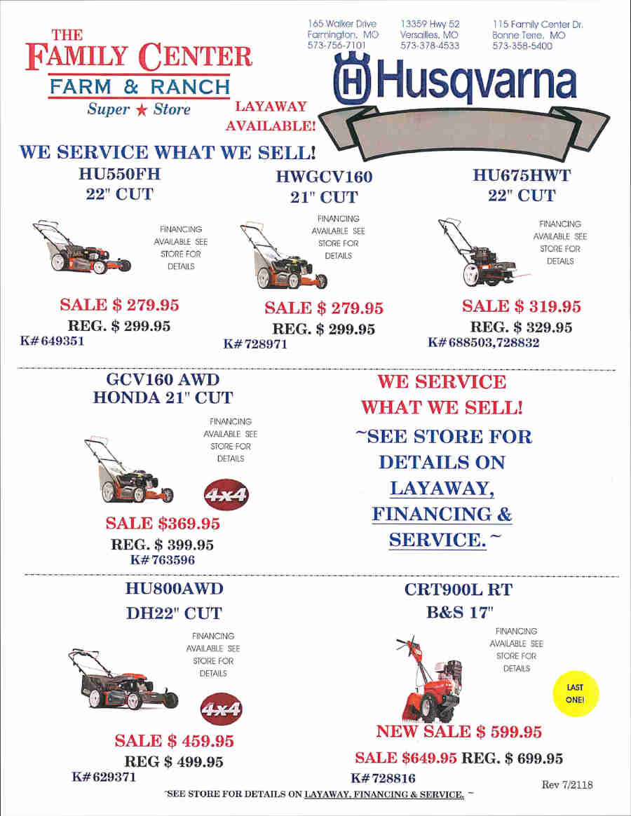 HUSQVARNA MOWER FLIER EFFECTIVE 72118_Page_1