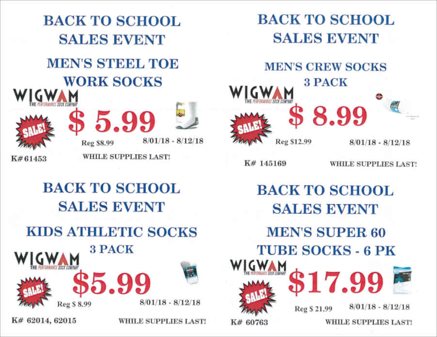 BACK TO SCHOOL SALE Wigwam Socks
