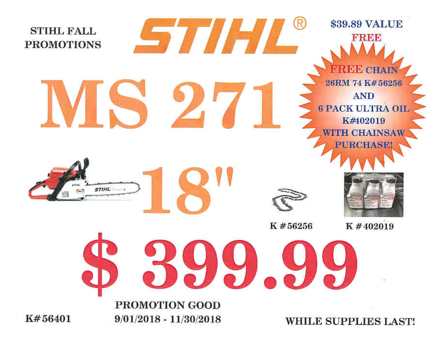 STIHL FALL PROMOTIONS September 1 - November 30, 2018 Page_3