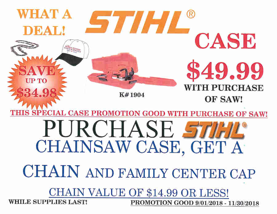 STIHL FALL PROMOTIONS September 1 - November 30, 2018 Page_4