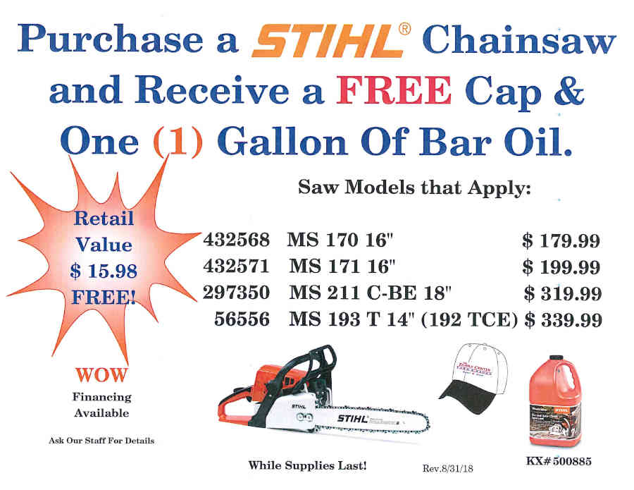 STIHL FALL PROMOTIONS September 1 - November 30, 2018 Page_5