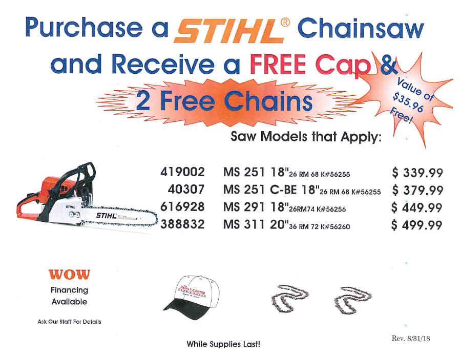 STIHL FALL PROMOTIONS September 1 - November 30, 2018 Page_6