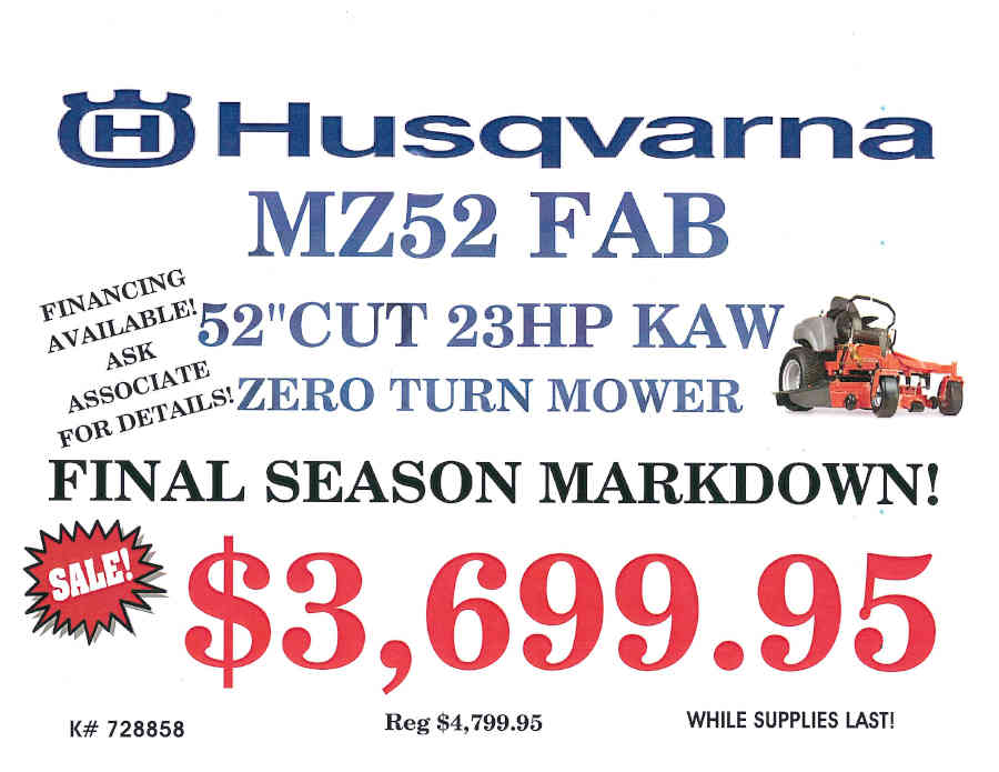 HUSQVARNA MOWERS FINAL SEASON MARK DOWN_Page_1