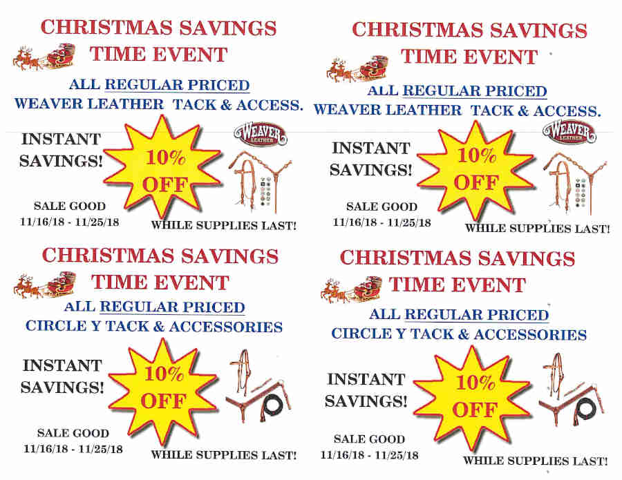 CHRISTMAS SAVINGS TIME EVENT