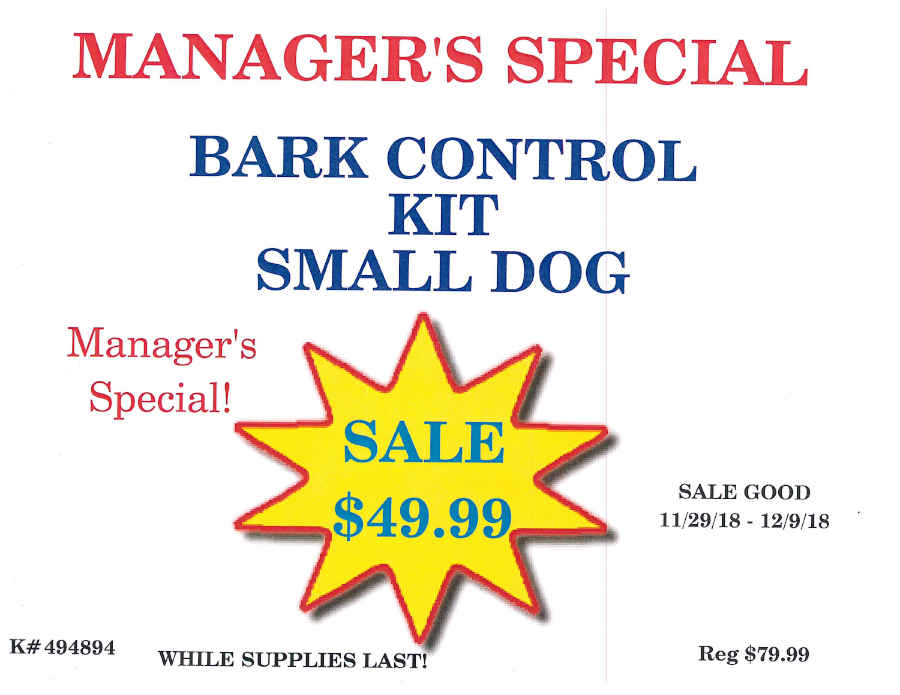 Bark Control Kit - Small Dog