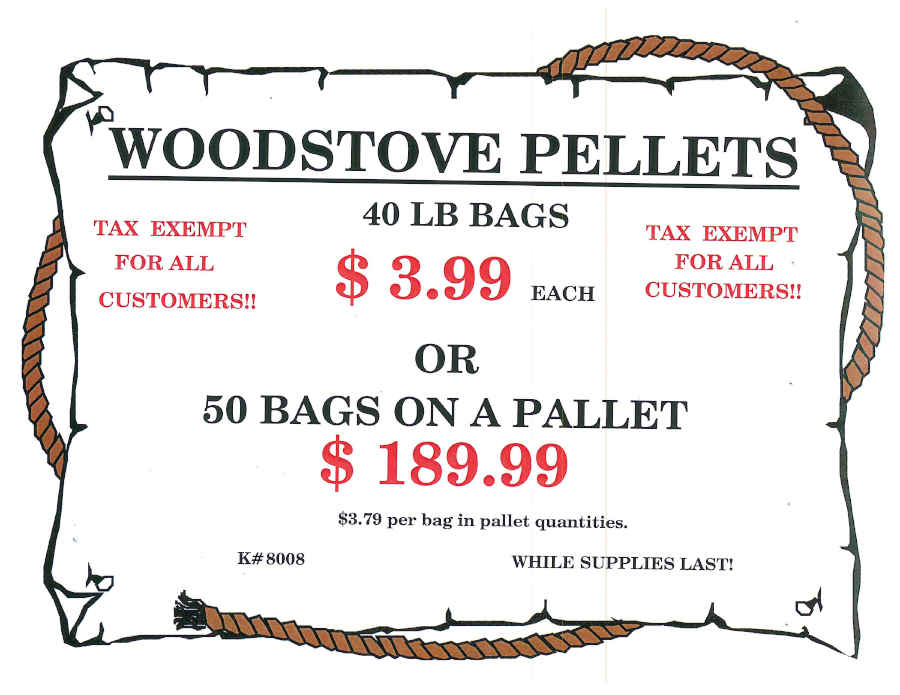 Wood Stove Pellets Tax Exempt